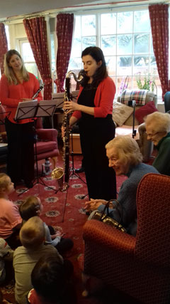 Cameo Clarinets workshop at Moncrieffe Care Home