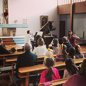 Pomegranate Piano Trio workshop at Kilgraston School